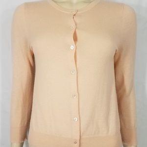 J. Crew light pink Cashmere cardigan sweater Small